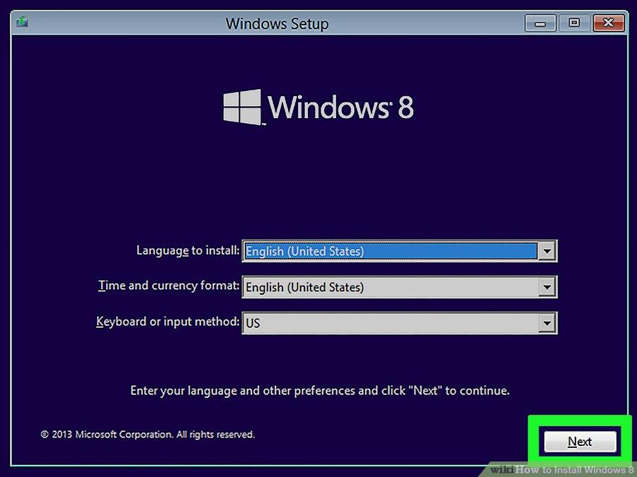 windows 8 from usb