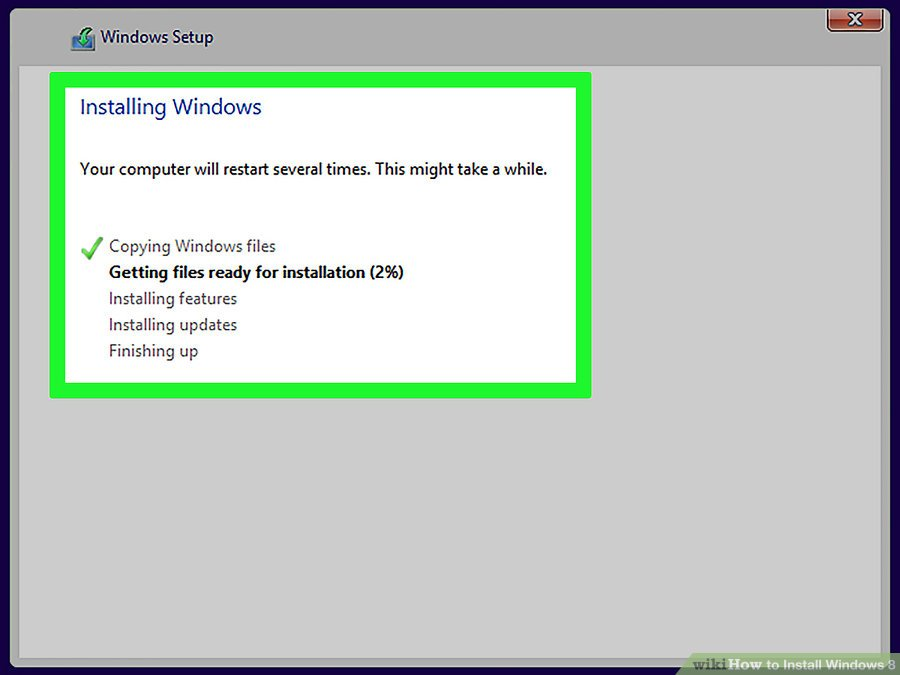 how to install windows 8 online