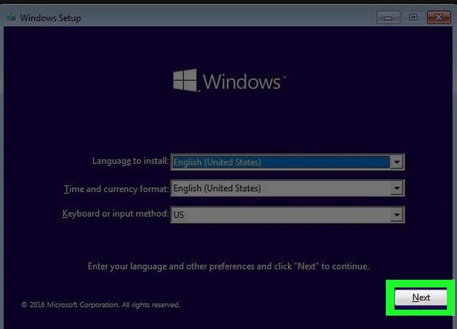 install windows 10 from dvd